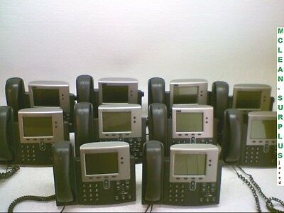Lot of Ten (10) Cisco IP Phones 7940 Series Model CP-7940G VoIP Business Phone