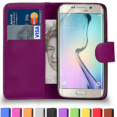 Samsung Galaxy S6 S6 Edge SM G925 Leather Wallet Flip Phone Case Cover Pouch