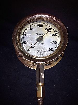 """1920's 5 1/4"""" Primary Inlet Industrial  Steam Guage Ashcroft Co New York Ny"""
