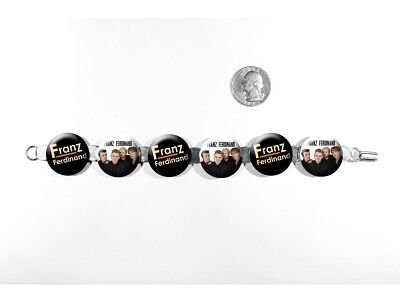 "Franz Ferdinand Alternative Rock Band Take Me Out 8"" Bracelet w/Fold-Over Clasp"
