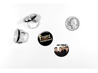 Franz Ferdinand Alternative Rock Band Take Me Out Set of 2 adjustable rings