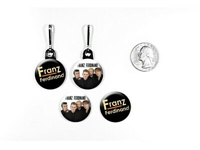 Franz Ferdinand Alternative Rock Band Take Me Out Zipper Pulls w/ Buttons
