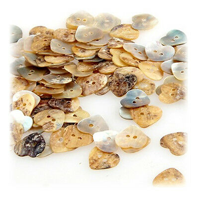 Lot 100 Mother of Pearl Heart Shell Sewing Buttons 15mm HOT