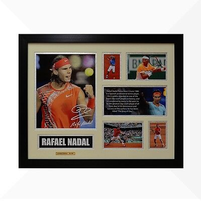 Rafael Nadal Signed & Framed Memorabilia - Ivory/Silver Limited Edition
