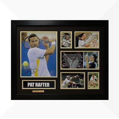 Pat Rafter Signed & Framed Memorabilia - Black/Gold Limited Edition - Tennis