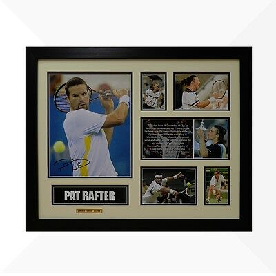 Pat Rafter Signed & Framed Memorabilia - Ivory/Black Limited Edition - Tennis