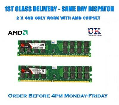 8GB 2x4GB DDR2 800MHz 240PIN PC2-6400 DIMM for AMD CPU Motherboard Memory RAM