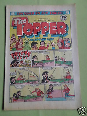 The Topper - Uk Comic - 12 Feb 1983   - # 1567 -Vg