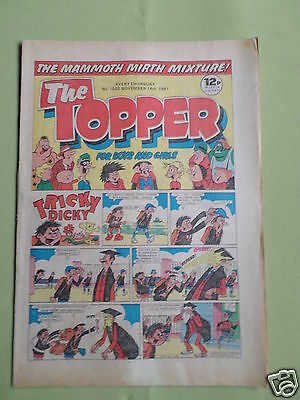 The Topper - Uk Comic - 14 Nov 1981  - #1502 -Vg