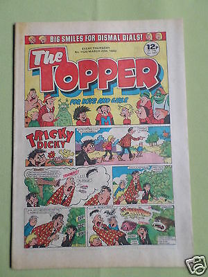 The Topper - Uk Comic - 20 Mar 1982  - #1520- Vg