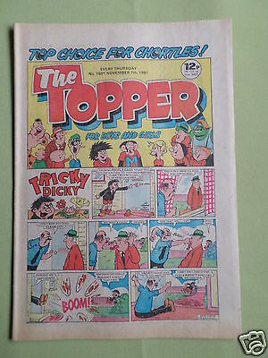 The Topper - Uk Comic - 7 Nov 1981  - # 1501 - Vg