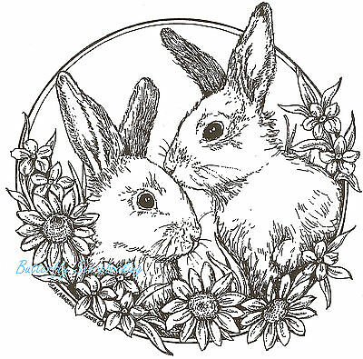 Rabbit Dolls Bunnies Unmounted Rubber Stamps Sheets Bunny Stamps Whimsical