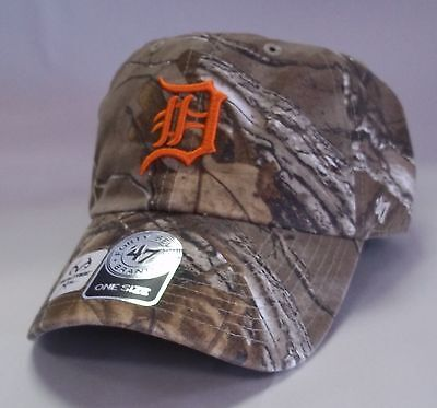 outlet store bc018 eb557 Detroit Tigers 47 Brand Clean Up RealTree Hat Baseball Cap
