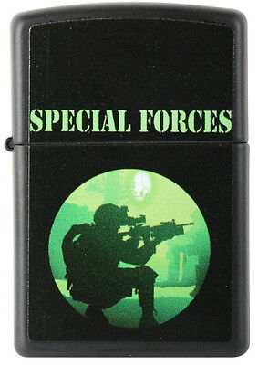 US Special Forces American Military Army, Navy, Marine Black Matte Zippo Lighter