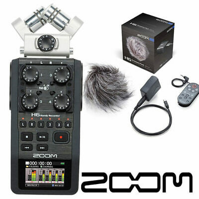 Zoom H6 Portable recorder inc APH6 accessories pack digital audio 6 track record
