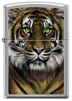Golden Bengal Tiger Green Eyes Big Cat Lovers Zippo Lighter