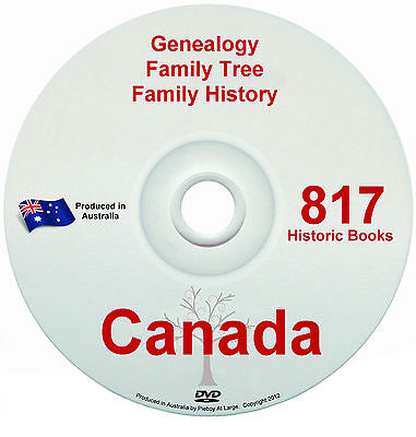 Family History Tree Genealogy Canada British Nth America Historic Books 4 disks