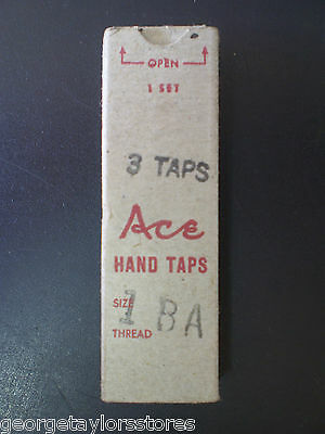 1 BA 3 Piece Vintage Hand Tap Set Made in USA Includes Taper, Int and Plug NOS