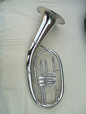 Nickel Plated Baritone Horn Outift Bb Key NEW!