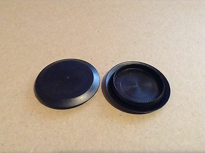 """10Pack 1 1/2"""" 1.5 Inch Flush Mount Black Plastic Body and Sheet Metal Hole Plugs"""