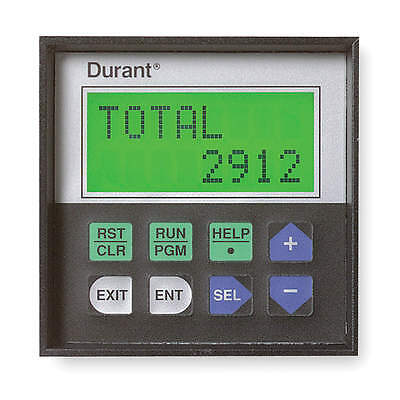 *new* Durant Electronic Counter (Model 57600405) 8 Digit 2 Line Display (3Ktc9)