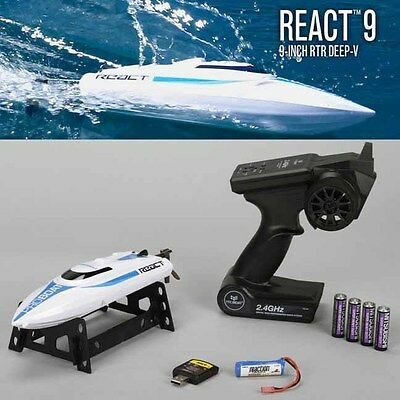Pro Boat PRB08023 React 9 Self-Righting Brushed 9-inch Deep-V Boat RTR w/ Radio