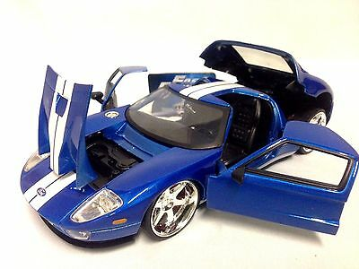 Fast Furious Movie Ford Gt  Scalecast Jada Toys Blue