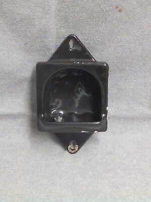 Antique Cast Iron Black Porcelain Recessed Soap Dish Old VTG Bathroom 145-16