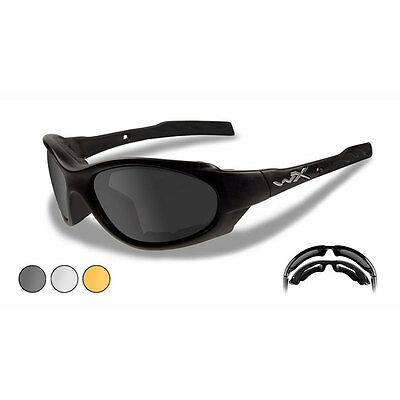 Wiley X XL-1 Advanced Military Balistic Safety Shooting Glasses 3 Lens Kit Black