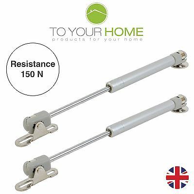 2 x 150Nm Gas Struts Springs for Kitchen Cupboard Cabinets Door Stay Pair