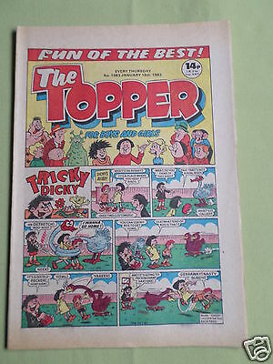 The Topper - Uk Comic - 15 Jan 1983  - # 1563 - Vg