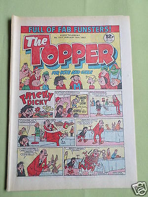 The Topper - Uk Comic - 16 Jan 1982  - #1511 - Vg