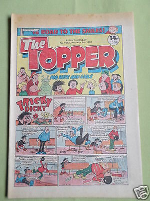 The Topper - Uk Comic - 8 Jan 1983 - #1562 - Vg