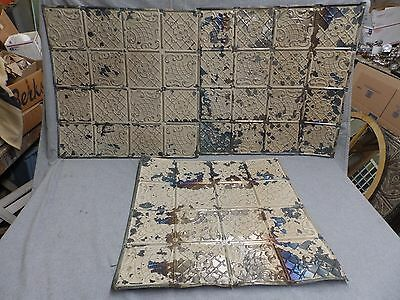 100 Sq Feet Salvaged Antique Tin Ceiling Decorative Pattern Old Vintage 151-16