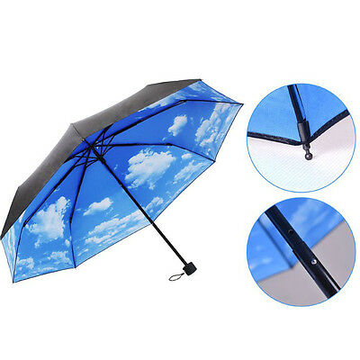 Anti UV Sol Protección Paraguas Sky 3 Plegable Sombrillas Para Lluvia Salable