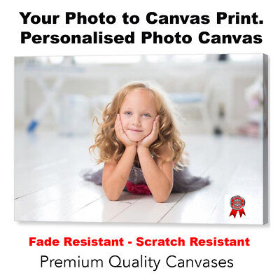 "Your Photo Picture Canvas Print 8"" x 12"" A4  Personalised Canvas Ready to Hang"
