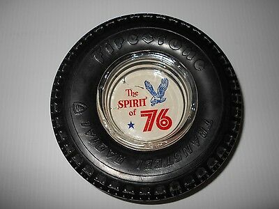 Vintage The Spirit Of 76  Firestone Transteel Radial Tire Ashtray