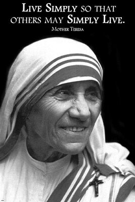 MOTHER THERESA QUOTE GLOSSY POSTER PICTURE PHOTO motivational inspirational 2058