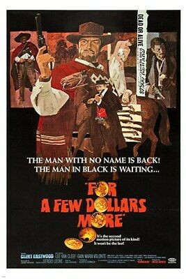A3 Clint Eastwood For a Few Dollars More Vintage Movie Home Posters Art #10