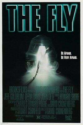 THE FLY vintage movie poster JEFF GOLDBLUM sci-fi thriller COLLECTORS 24X36