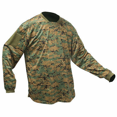 New Valken Paintball V-Tac Echo Playing Jersey - Green Marpat DIGI Camo - 4XL