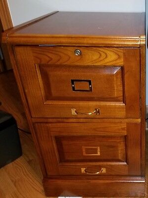 "Coaster 2 DRAWER FILE -OAK 5317N File Cabinet 22.5"" x 19"" x 30"" NEW"