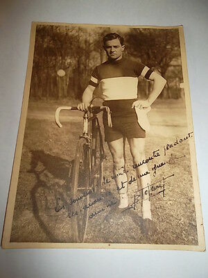 Photo dédicacée cycliste années 1940  Cycle photo dedicated years 40,foto