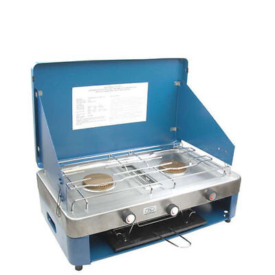 Highlander Camping Double Gas Burner Stove with Grill