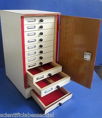 Wooden Microscope prepared slide Storage Cabinet for 1000 Slides - KAYCO All New