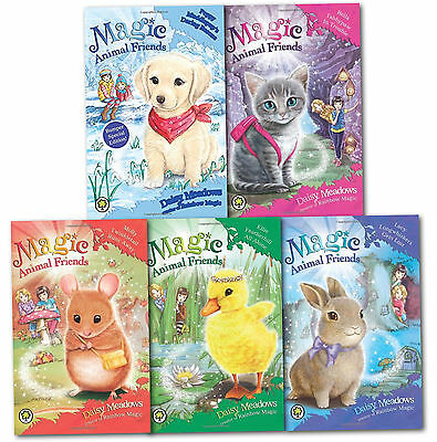 Magic Animal Friends Collection Daisy Meadows 5 Books Set Poppy, Lucy, Molly...