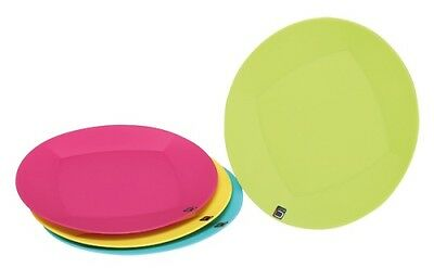 Quest Cuisine Tableware 4 Plate Set Melamine and BPA Free Camping, Caravaning