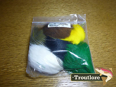 Hareline Dubbin Dyed Deer Belly Hair Combo Pack - New Fly Tying Materials