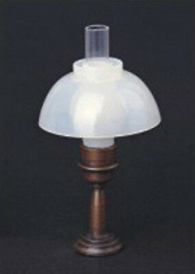 1:12 Scale Working Table Lamp With A Frosted Shade Dolls House Miniature 1039