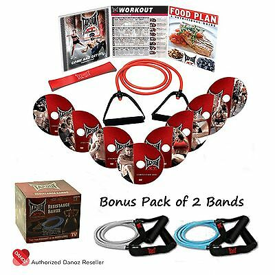 Danoz TapouT XT 8 DVD Fitness Program + XT Pack of 3 Bands + Gifts✓